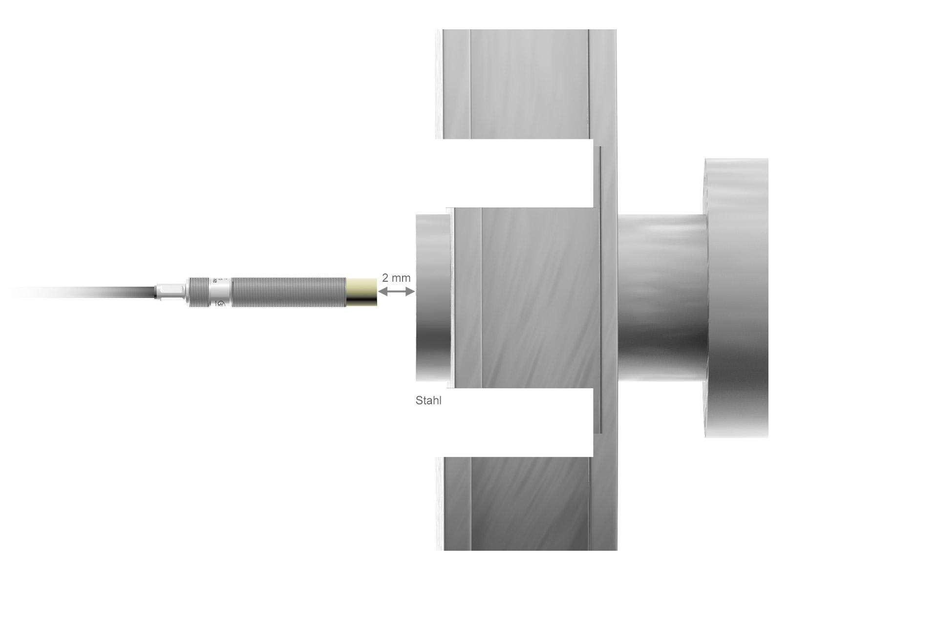DT3001-U2-M-SA Wirbelstrom-Wegsensor
