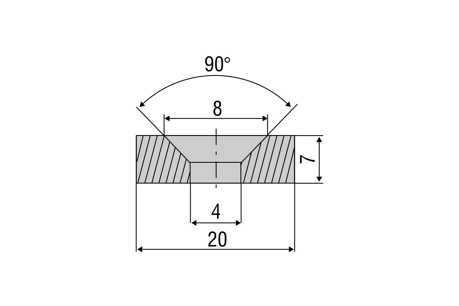 Zubehörmagnet MDS-45 für Messbereich 55 mm