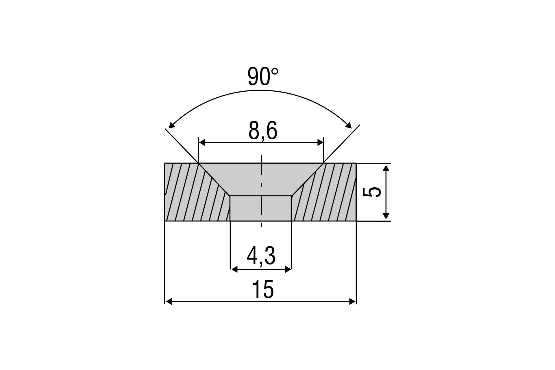 Zubehörmagnet MDS-45 für Messbereich 35 mm