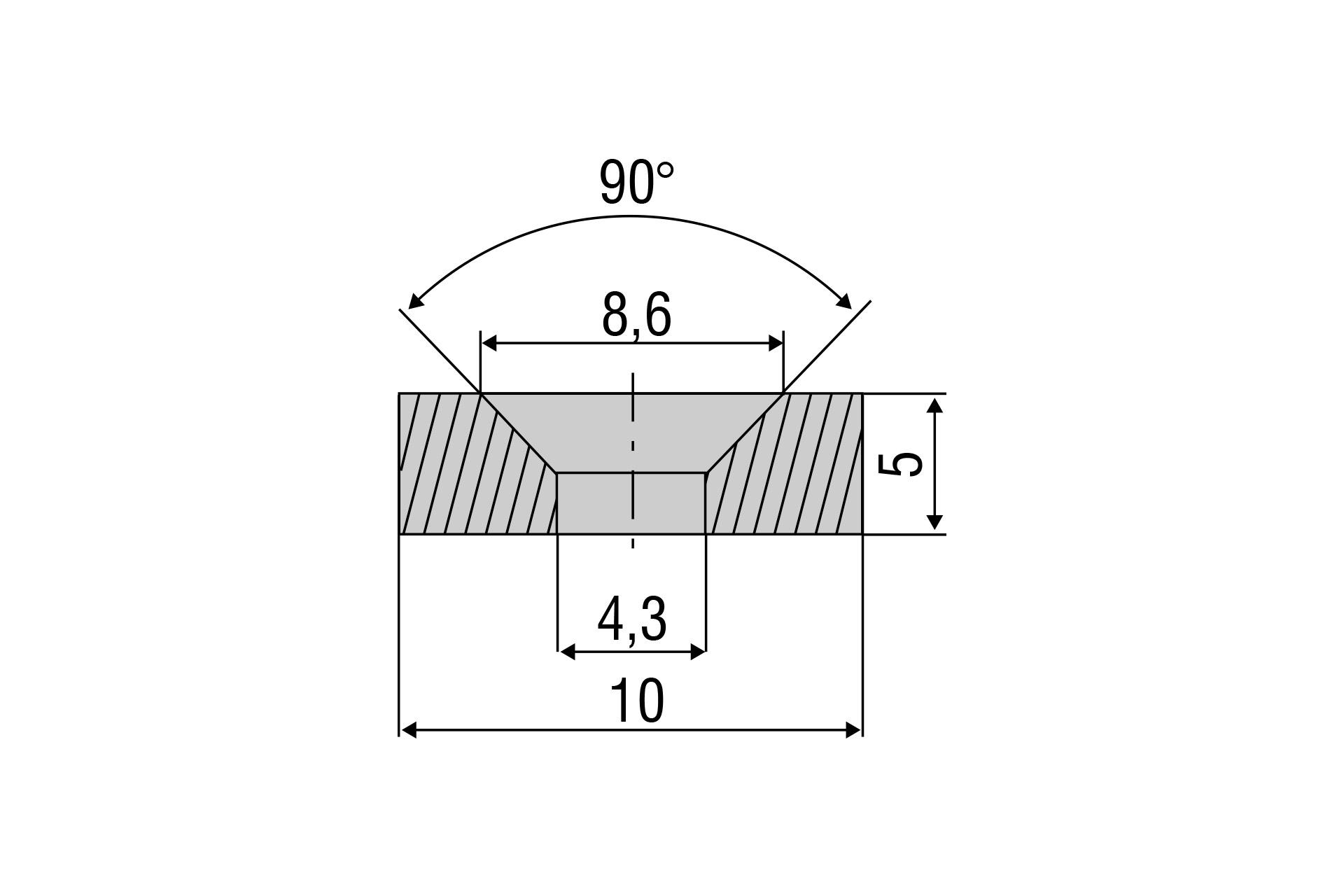 Zubehörmagnet MDS-45 für Messbereich 20 mm