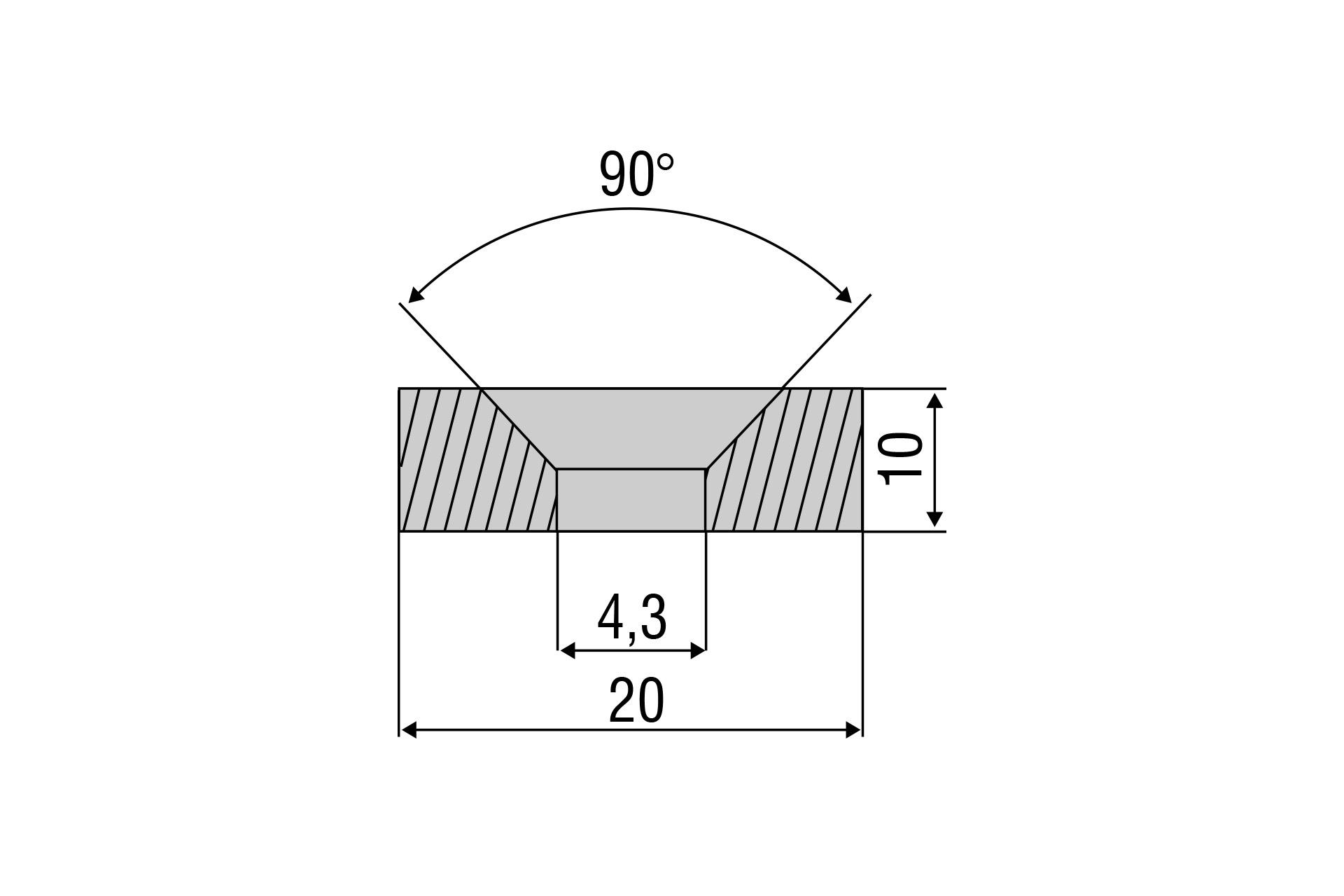Zubehörmagnet MDS RL21 für Messbereich 30 mm